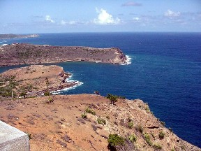 The coast of Antigua from Shirley's Height.  September 12, 2001.