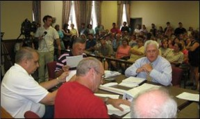 Cumberland County Commissioners  meeting, August 12, 2008.