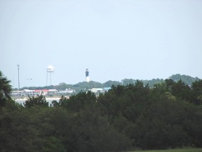 Tybee Island and lighthouse from the walls of Fort Pulaski.  June 23, 2008.