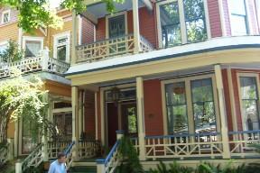 Victorian Row Houses in Savannah, Georgia.  June 24, 2008.