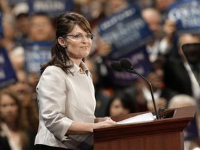 Sarah Palin accepting the vice-presidential nomination.  September 3, 2008.