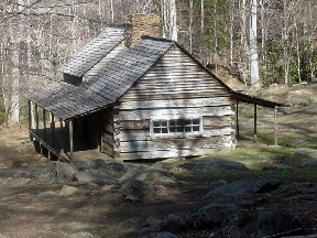 The Ogle cabin, Great Smoky Mountains National Park. February, 2002.