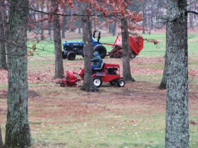 Picking up leaves on Druid Hills golf course.  November 24, 2008.