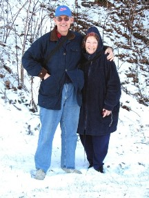 With my beautiful bride at Newfound Gap, December, 2007.