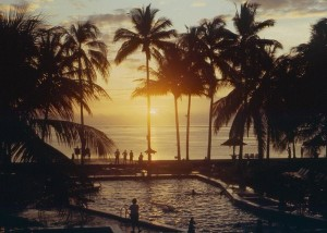 Sunset on Bali, June, 1987.