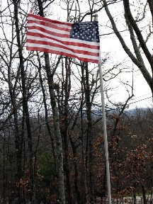 The flag at our house in the wind.  December 9, 2008.