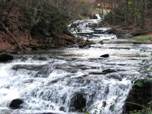 Upper Cove Creek Cascade, Wears Valley, Tennessee.  December 30, 2008.