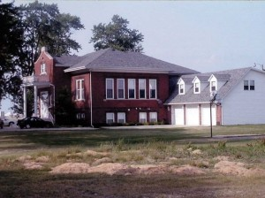 The former Washington School, Crown Point, Indiana.  July, 2002.