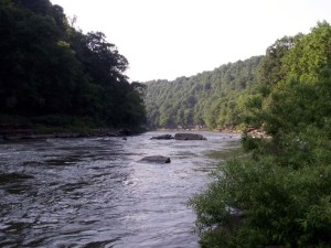 The Caney Fork River at Rock Island State Park, Tennessee.