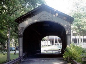 The Covered Bridge at Lake County Fairgrounds.  July, 2002.