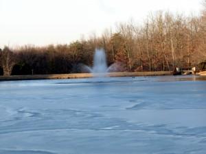 Mirror Lake, Fairfield Glade, Tennessee.  February 6, 2009.