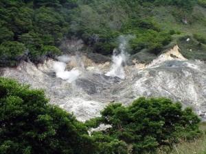 Volcano on St. Lucia.  September 13, 2001.