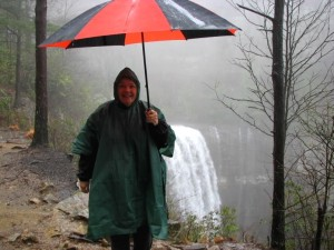 Betsy at Lower Lula Falls.  March 29, 2008.