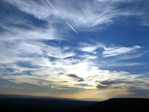 The view from Sunset Point, Mt. Nebo, Arkansas.  November, 2007.