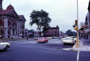 The Courthouse Square, Crown Point, Indiana, circa 1963.