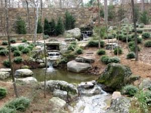 A cascade near the chapel in Garvan Woodland Gardens, Arkansas.  March 9, 2009.