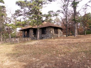 'Our' cabin on Mt. Nebo.  November 27, 2006.
