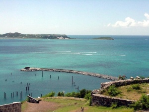 Marigot Bay, St. Martin.  September 11, 2001.
