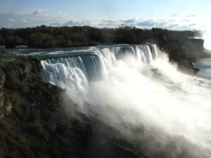 The American Falls at Niagara.  October 25, 2008.