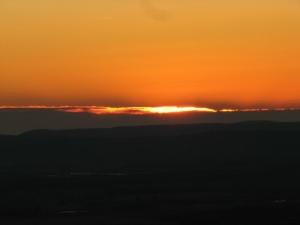 Sunrise on Mt. Nebo, Arkansas.  December 4, 2008.