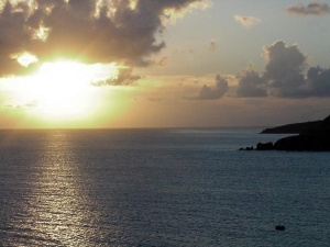 Sunset off the coast of St. Maarten.  September 11, 2001.