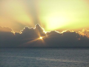 Sunrise at Sea.  September 15, 2009.