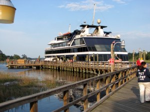 A casino boat docked at Little River.  May 7, 2007.