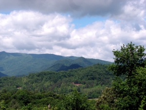 The mountains of western North Carolina.  May 29, 2009.