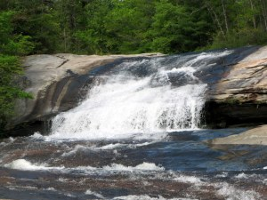 Upper Bridal Veil Falls, DuPont State Forest, North Carolina.  May 10, 2009.