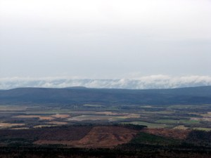 Clouds rolling into the Petit Jean River Valley.  March 11, 2009.