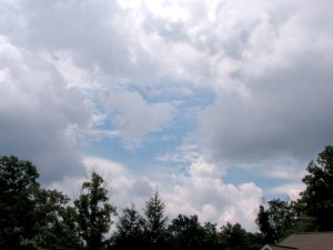 Fairfield sky.  June 15, 2009.