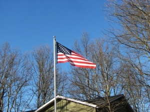 Our flag.  Fairfield Glade, Tennessee.  January 31, 2009.