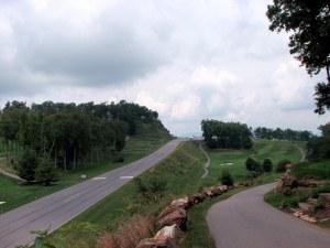 The runway at Mountain Air, North Carolina.  July 11, 2009.