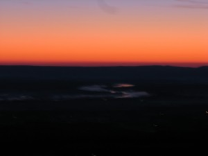 The Arkansas River in a sunrise from Mount Nebo.  December 2, 2008.
