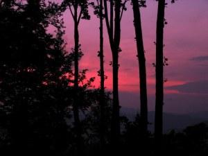 Evening Sky, Mountain Air, North Carolina.  July 10, 2009