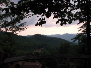 Evening in the mountains of North Carolina.  July 10, 2009.