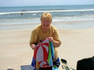 Betsy at Ormond Beach, Florida.  August 5, 2009.