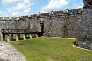 The main gate of Castillo de San Marcos, St. Augustine, Florida.  August 4, 2009.
