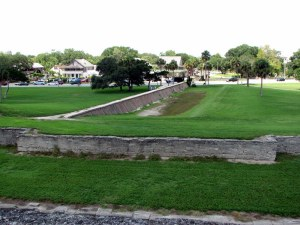 The reconstructed city of St. Augustine, Florida.  August 4, 2009.