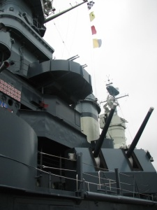 5-inch and AA guns on the North Carolina.  May, 2007.