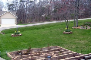 Our front yard.  April 2, 2009.