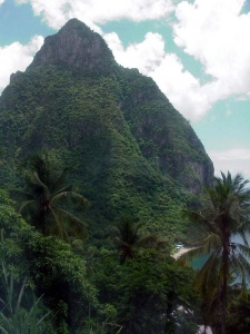 Gran Piton, Soufriere, St. Lucia.  September 13, 2001.