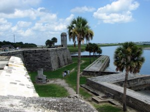 The outer walls of the fort.  August 4, 2009.
