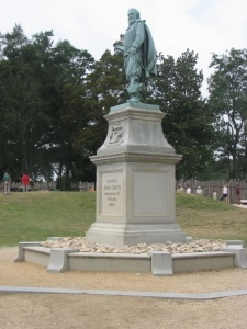 The statue of Captain John Smith at Historic Jamestowne, Virginia.  June 20, 2007.