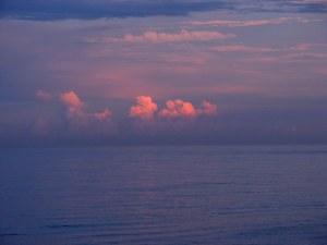 Sunset at Ormond Beach, Florida.  August 5, 2009.