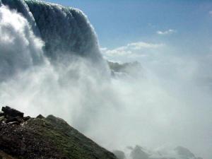 The American Falls at Niagara.  August 30, 2002.