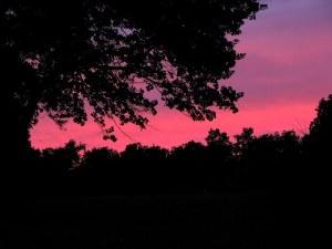 A Fairfield Glade evening sky.  August 30, 2009.