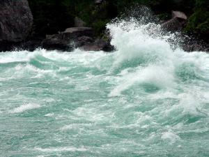 White Water Walk, Niagara Falls, Ontario.  August 29, 2009.
