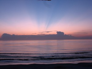 Sunrise at Ormond Beach, Florida.  August 6, 2009.