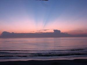 Sunrise at Ormond Beach, Florida.  August 6, 2009.